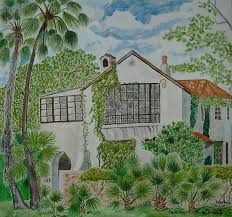 L.B. Clegg House in San Antonio Painting by Vera Smith