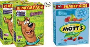 scooby doo fruit snacks as low as