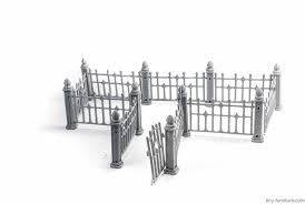 Tiny Furniture 215 Wrought Iron Fence Unpainted Aq Hobbies