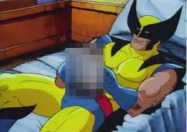 wolverine cartoon in bed justpost
