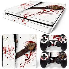 Zoomhit Ps4 Slim Playstation 4 Console Skin Decal Sticker Blood Chainsaw 2 Controller Skins Set Zoomhitskin