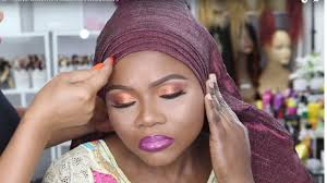 client gele and makeup transformation