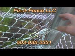 Fix A Fence Llc Builds A Chain Link Fence Youtube