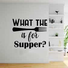 What The Fork Kitchen Wall Decal Dining Room Vinyl Wall Sticker Wallpaper For Walls In Rolls Simple Cute Funny In Style C385 Wall Stickers Aliexpress