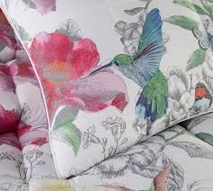 hummingbird cotton comforter shams