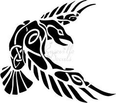 Amazon Com Raven Norse Vikings Odin Vinyl Decal Sticker For Home Office Decor Vehicle Window Sign Size 6 Inch 15 Cm Wide Color Gloss White