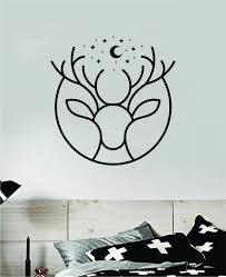 Deer Moon Stars Wall Decal Home Decor Sticker Vinyl Art Room Bedroom A Boop Decals