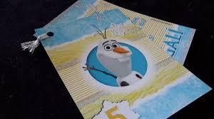 Tarjetas Invitaciones Cumpleanos Infantiles Frozen Olaf 25 00
