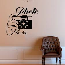 Photo Studio Logo Wall Sticker Photo Camera Vinyl Wall Decal Removable Photography Window Mural Home Camera Decoration Ay1708 Buy At The Price Of 7 34 In Aliexpress Com Imall Com