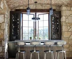 rustic cottage wet bar with french t