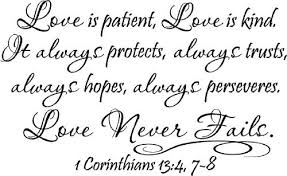 2 Love Is Patient Love Is Kind It Always Protects Always Trusts A