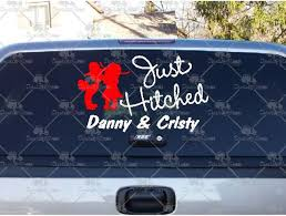 Great Deals On Just Hitched Country Couple Decals And Stickers