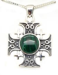 sterling silver jerum cross pendant