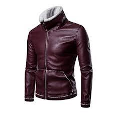 leather jacket fashion casual