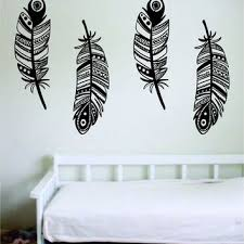 Shop Feather And Birds Wall Decal On Wanelo