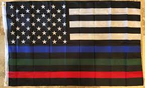 Usa Memorial Official Service Supporters Flag Police Military Fire Ruffin Flag Wholesale
