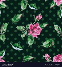 vine flower pattern vector image