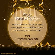 write on happy diwali new year greetings ecard picture