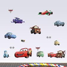 Children S Bedroom Boy Decor Decals Stickers Vinyl Art 24 Pcs Disney Cars Pixarcartoon Wall Art Kids Nursery Boy Decor Vinyl Decal Gift Home Garden Vibranthns Lk