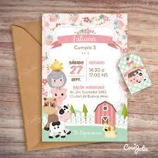 Kit Animalitos De La Granja Nena Imprimible Personalizable