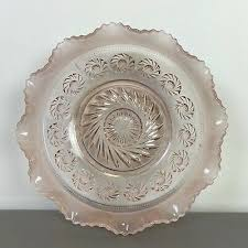 vintage pink depression 20cm glass bowl