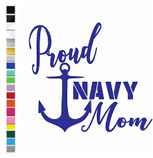 Amazon Com Proud Navy Mom Vinyl Graphic Decal For Car Truck Vehicle Window Locker Planner Cooler More High Quality Outdoor Rated Vinyl Plus 1 Free Decal See Image For More Information Handmade