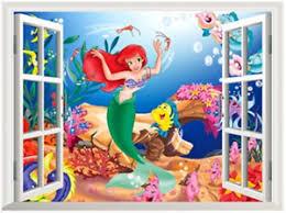 Ariel Little Mermaid Ocean Scene Wall Decal Decorative Sticker Disney Ebay