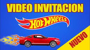 Video Invitacion Hotwheels Suniland Park Youtube