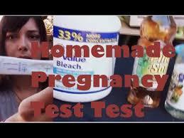 homemade pregnancy test test bleach