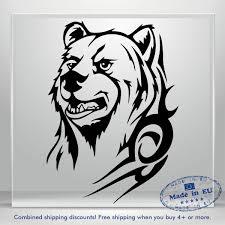 Grizzly Bear Decals Black Car Bumper Window Vinyl Decal Sticker Jdm Auto Russian Ebay