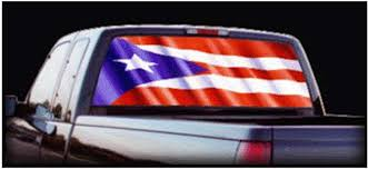 Amazon Com Rear Window Graphics Puerto Rico Flag Automotive