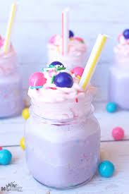 spring bubblegum mini milkshake recipe