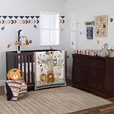 nojo aztec forest 6 pc crib bedding set