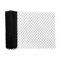 5 Ft X 50 Ft 10 Gauge Galvanized Steel Chain Link Fence Fabric Black Aleko