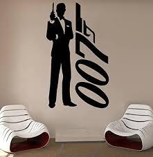 Amazon Com James Bond Wall Decal Agent 007 Vinyl Sticker Superhero Decals Home Decor 10jmbd Kitchen Dining