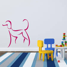 Female Dog Wall Decal Style And Apply