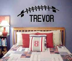 Large Custom Name Football Vinyl Wall Decal Football Sports Theme Pers Word Factory Design