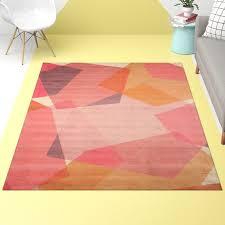 shade geometric tufted blush area rug