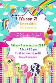 My Little Pony Rainbow Birthday Invitation Second Birthday For A