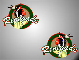 Product 2 Renegade Left Right Logo Jeep Wrangler Vinyl Sticker Decals