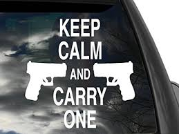 Fgd Pro Gun Keep Calm Rear Window Decal Sticker Family Graphix Llc