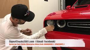 Video N5 How To Install Headlight Decal Graphic Dodge Challenger Hellcat Srt Demon Hemi Installatio Youtube