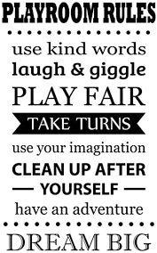 Amazon Com Playroom Rules Wall Decal Positive Funny Daily Family Quotes Vinyl Sticker Lettering Saying Art Decorations For Home Kids Children Boys Girls Game Room Bedroom Decor 58qz Arts Crafts Sewing