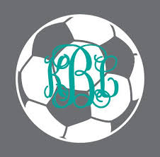 Preppy Soccer Monogram Car Decal Order Yours Today Utcm Underthecarolinamoon Soccer Soccerdecal Soc Soccer Mom Decal Car Monogram Decal Monogram Decal