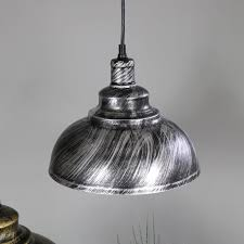 silver dome ceiling pendant light