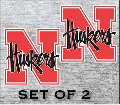 Nebraska Huskers Vinyl Cornhole Decal Logo Wall Sticker Car Truck 12 Set Of 2 For Sale Online Ebay