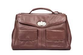 brown ndm leather laptop bag for men
