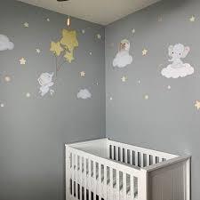 Elephant Balloon Wall Decal Baby Room Wall Sticker Elephant Nursery Wa Kidscutedecorations