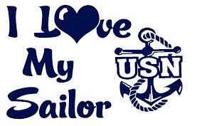 Usn I Love My Sailor Vinyl Car Decal Us Navy Lilbitolove