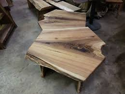 live edge ernut slab wood coffee